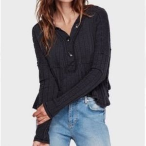 NWT Free People In The Mix Long Sleeve Top